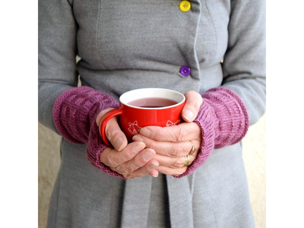 Návleky na ruce - fialové