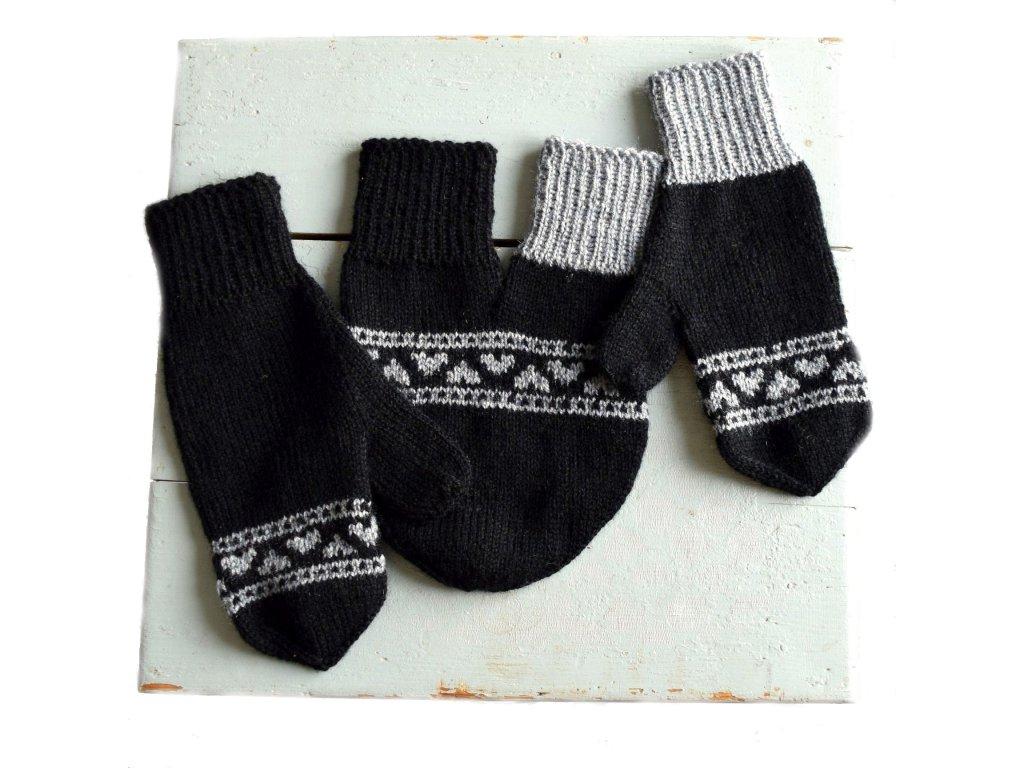 Partnerské rukavice - černá/šedá