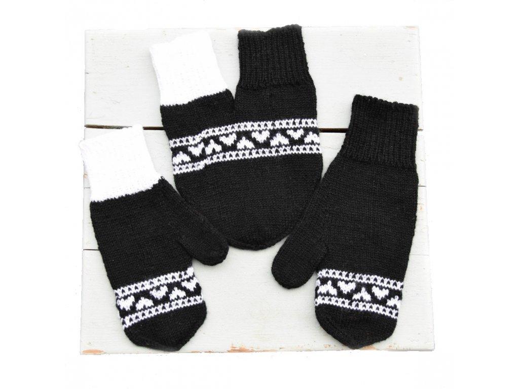 Partnerské rukavice - černá/bílá