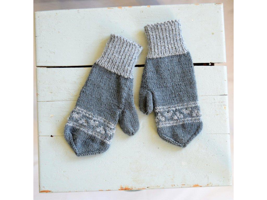 Dámské rukavice -  tmavě šedá/světle šedá