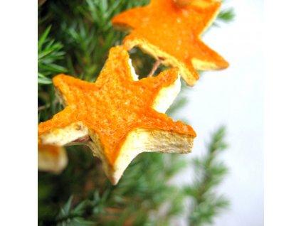 Vánoční řetěz - pomerančová hvězdička