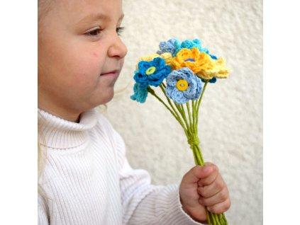 Květina pro tebe - modrá