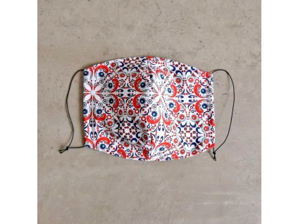 Bavlněná rouška pánská - barevný vzor