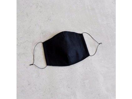 Bavlněná rouška dámská - černá