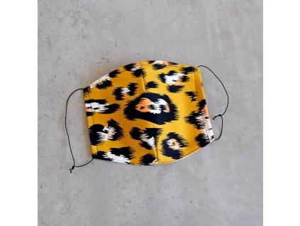 Bavlněná rouška pánská - levhart