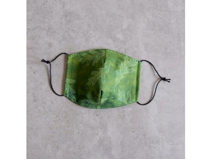 Bavlněná rouška dámská - listí