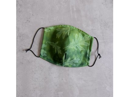 Bavlněná rouška pánská - listí