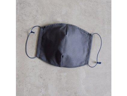 Bavlněná rouška dámská - šedá