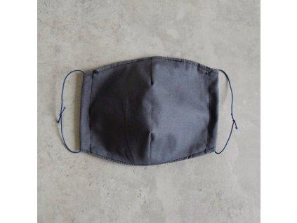 Bavlněná rouška pánská - šedá
