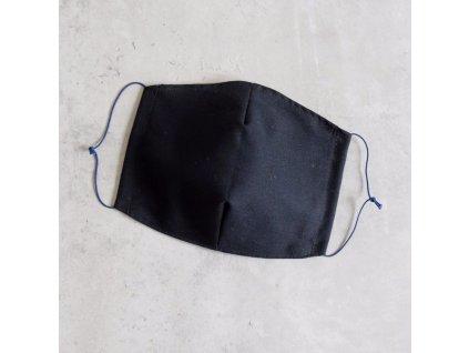 Bavlněná rouška pánská - černá