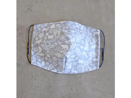 Bavlněná rouška pánská - zimní
