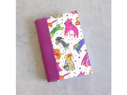 Obal na knihu - barevní psi