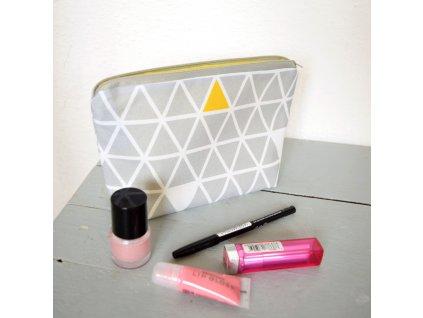 Kosmetická taštička - trojúhelníky