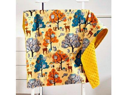 Podzimní les - deka pro miminko