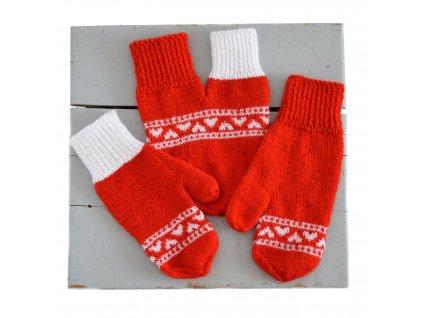 Partnerské rukavice - červená/bílá