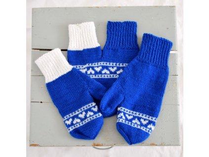 Partnerské rukavice - modrá/bílá