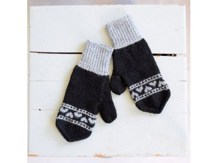Dámské rukavice - černá/šedá