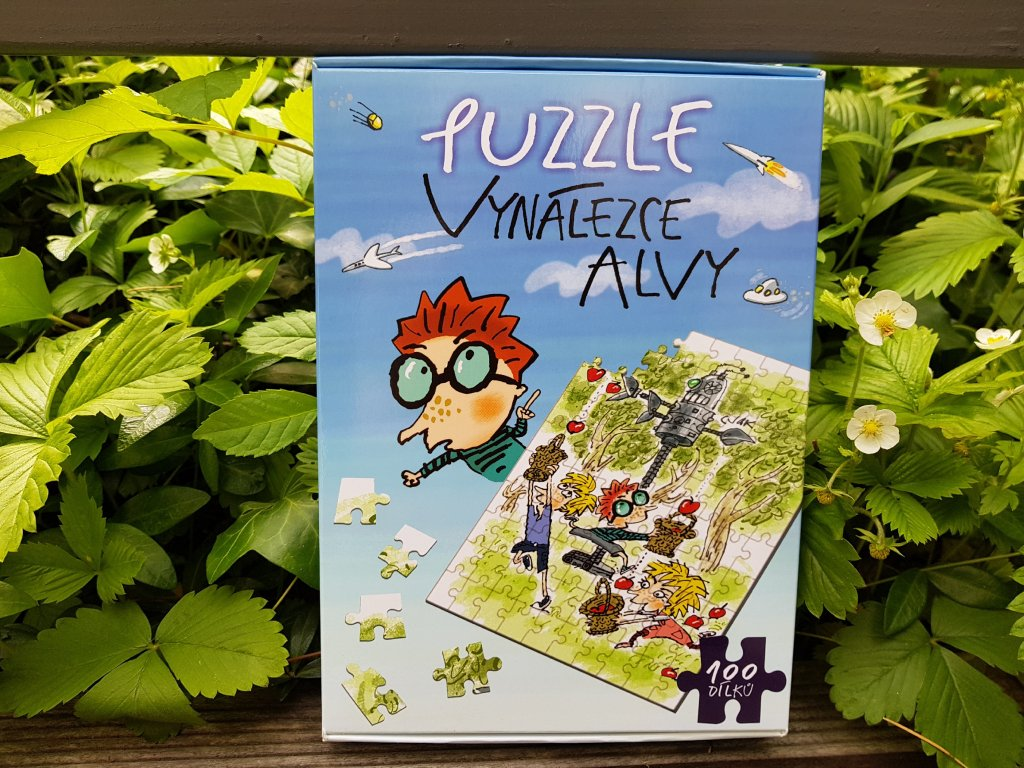 Puzzle vynálezce Alvy - modré