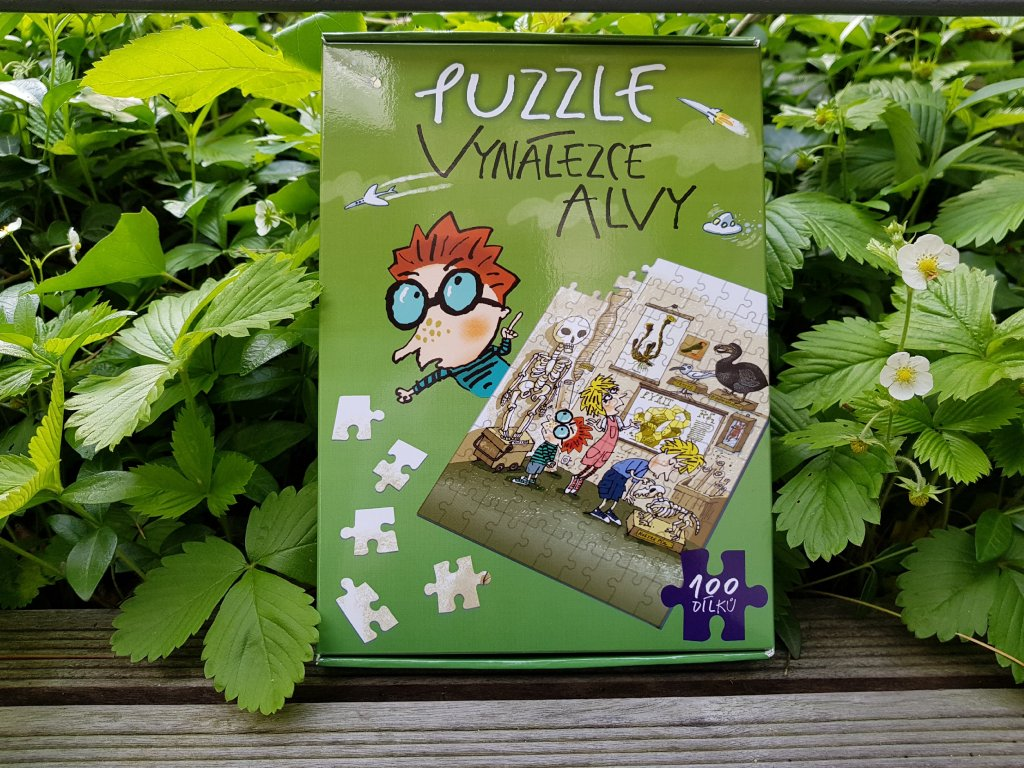Puzzle vynálezce Alvy - zelené