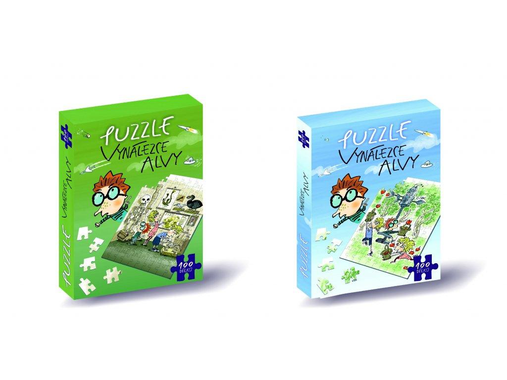 puzzle vynalezce alvy modre zelene