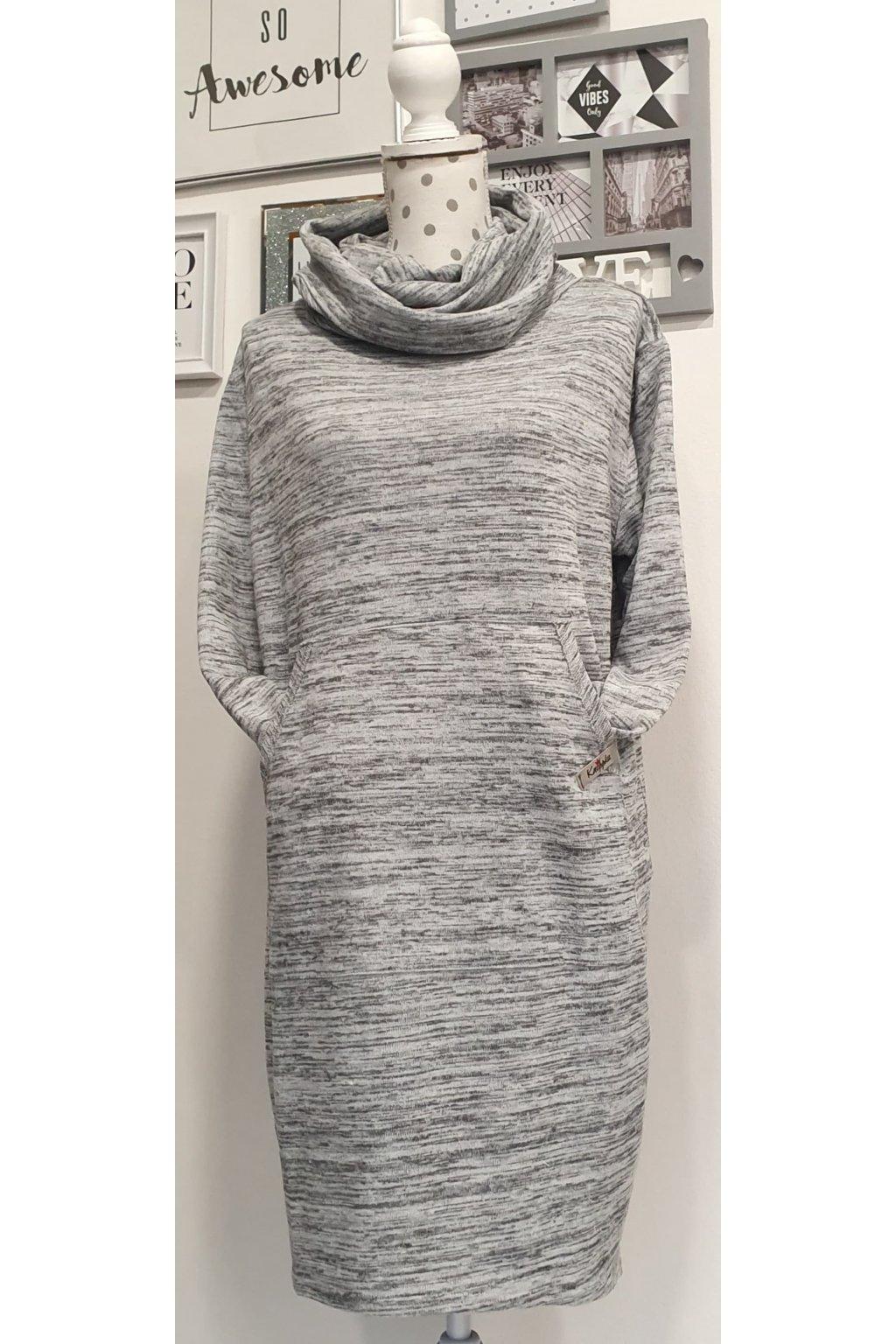 Úpletové šaty grey