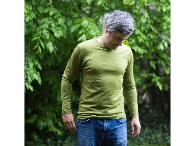 Pánské merino tričko s dlouhým rukávem (více barev)