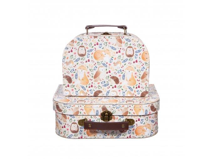 Merino set v kufříku -  pudrově růžová