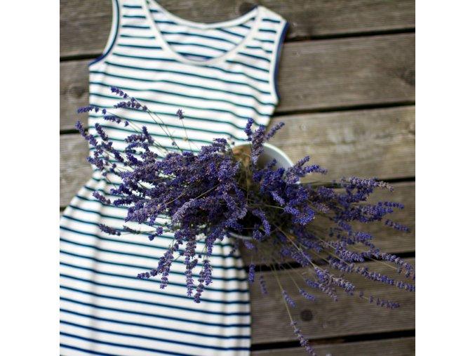 Námořnické letní šaty BIOBAVLNA