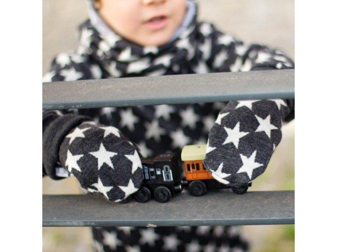 merino rukavice s hvězdami