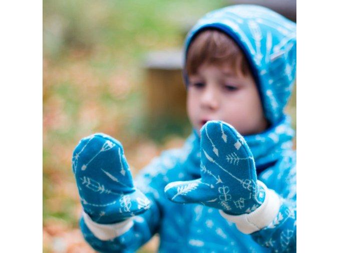 Merino rukavice: ŠÍPY TYRKYS