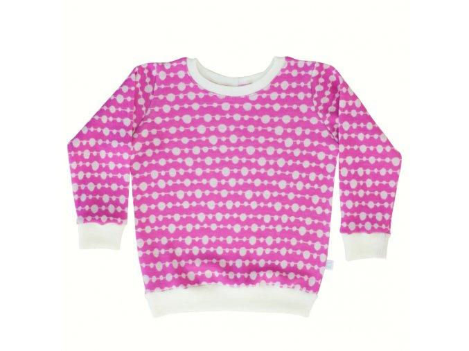 merino svetřík růžová