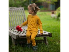 Merino legíny měsíčkově žlutá