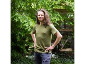 Pánské merino tričko s krátkým rukávem (více barev)