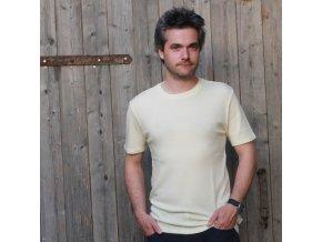 Pánské merino tričko (nejen) pod košili - smetanová