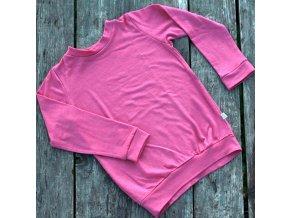 Merino tričko třešňová (dlouhý rukáv)