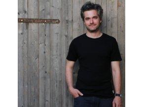 Pánské merino tričko (nejen) pod košili - černá