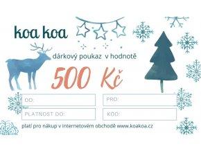 Dárkový poukaz s vánočním motivem