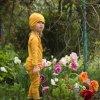 Merino legínky měsíčkově žlutá