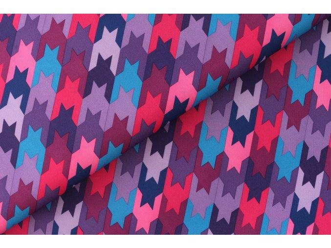 Kohoutí stopa barevná, 45 cm, kočárkovina