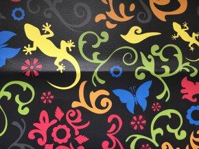Etno barevné (46x50cm), koženka