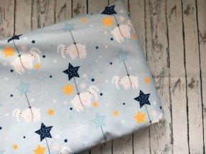 Králíčci ve hvězdách, 46 cm, kočárkovina