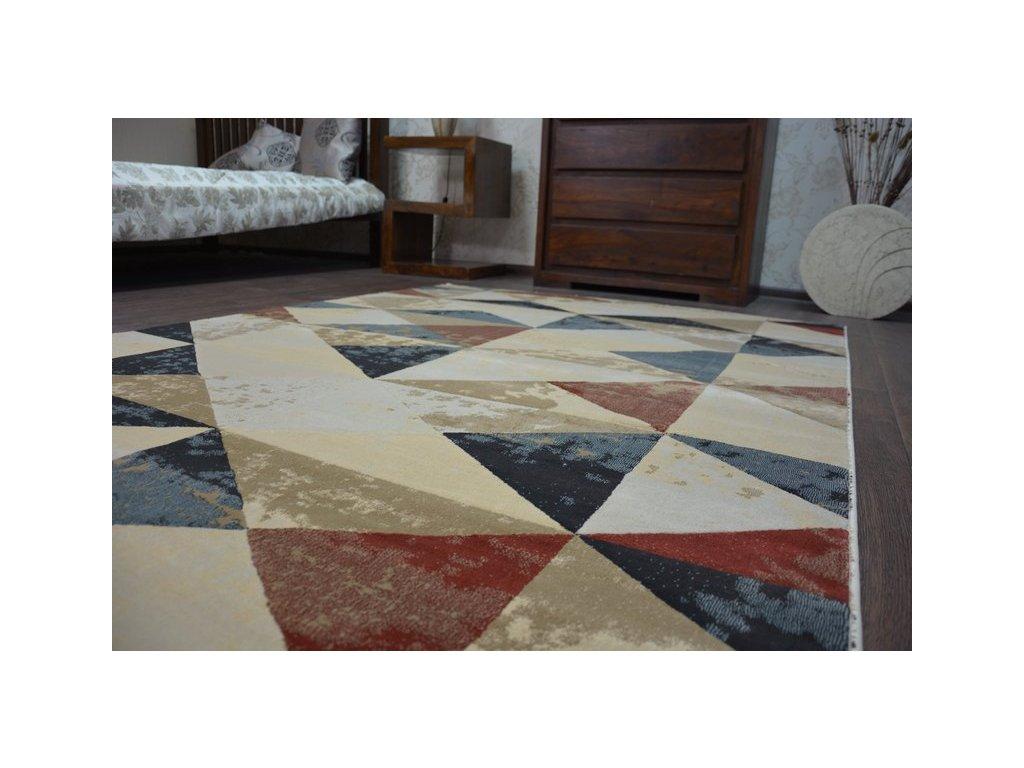 Kusový koberec DROP JASMINE 736 béžový / rezavý