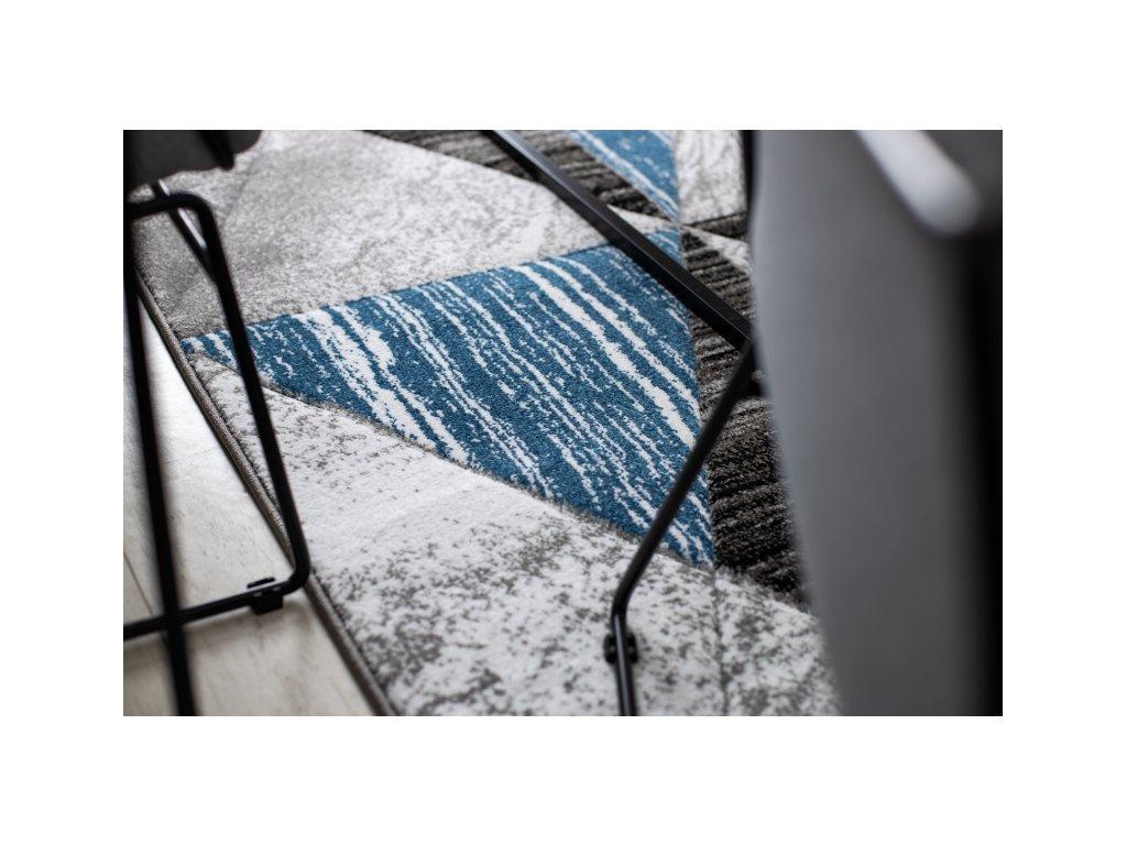 Kusový koberec ALTER Nano šedý / modrý
