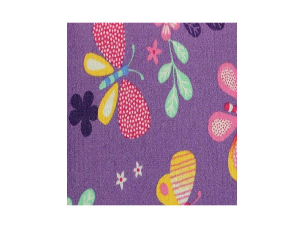 Dětský koberec Papillon 17 fialový s motýly