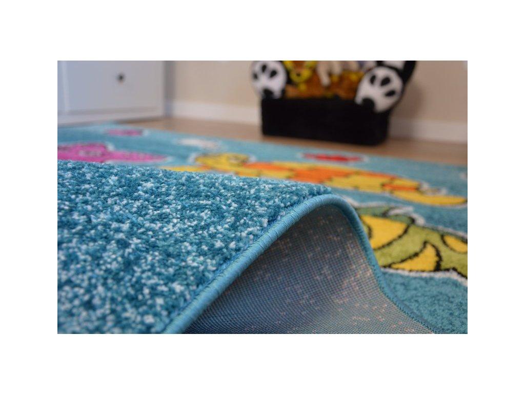 Dětský kusový koberec KIDS C424 Moře modrý