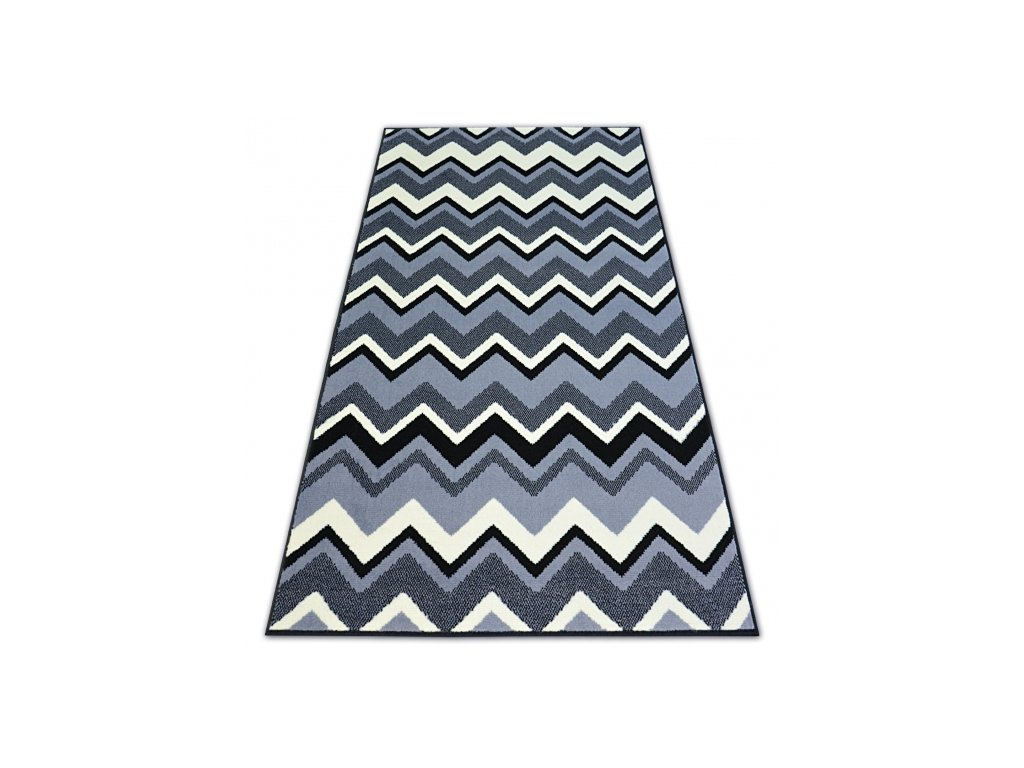 Koberec BASE 3812 černý / šedý