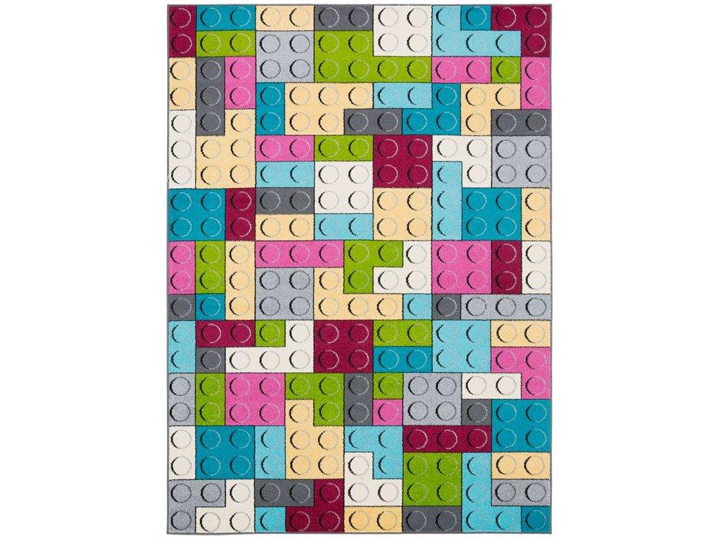 Dětský kusový koberec Agnella Funky Top Super Lego Cyklamen