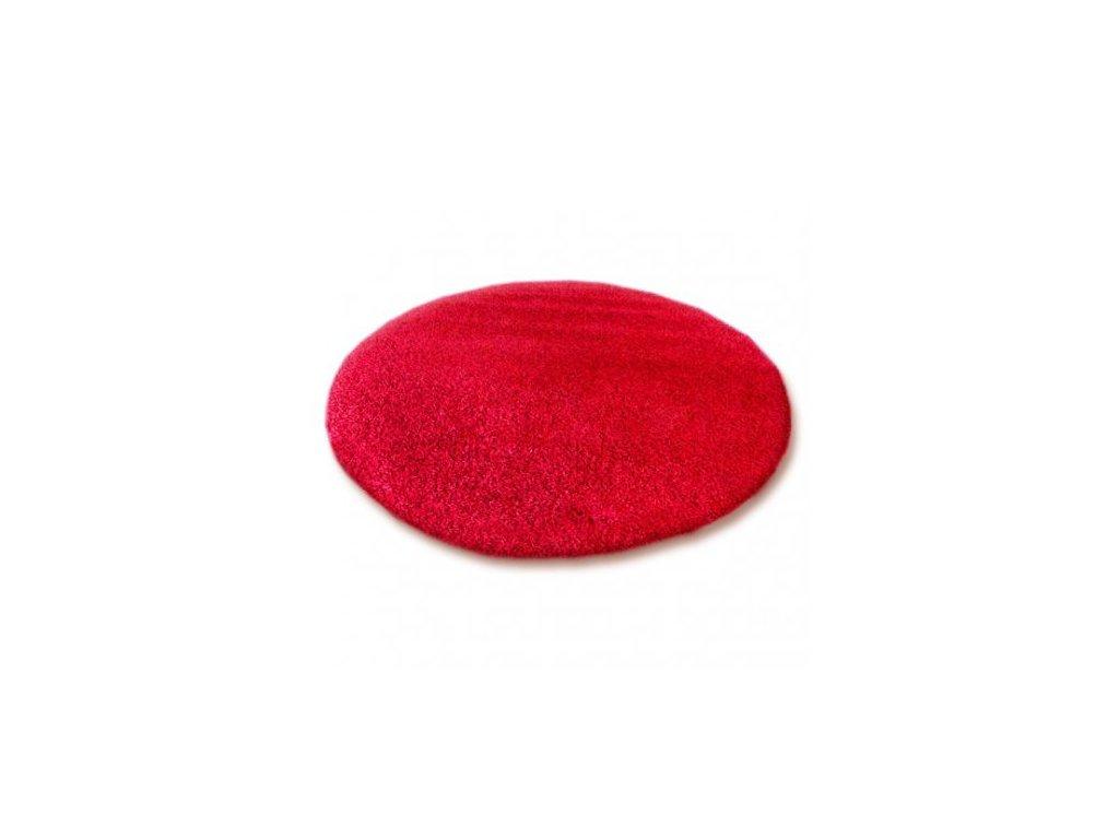 Kulatý koberec SHAGGY 5cm červený