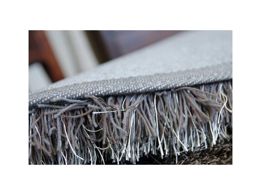 Kulatý koberec LOVE SHAGGY 93600 taupe