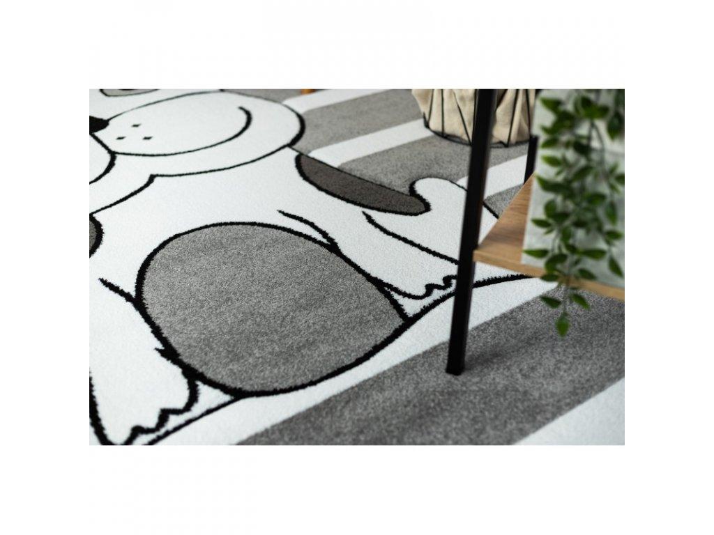 Dětský kusový koberec PETIT Pes šedý